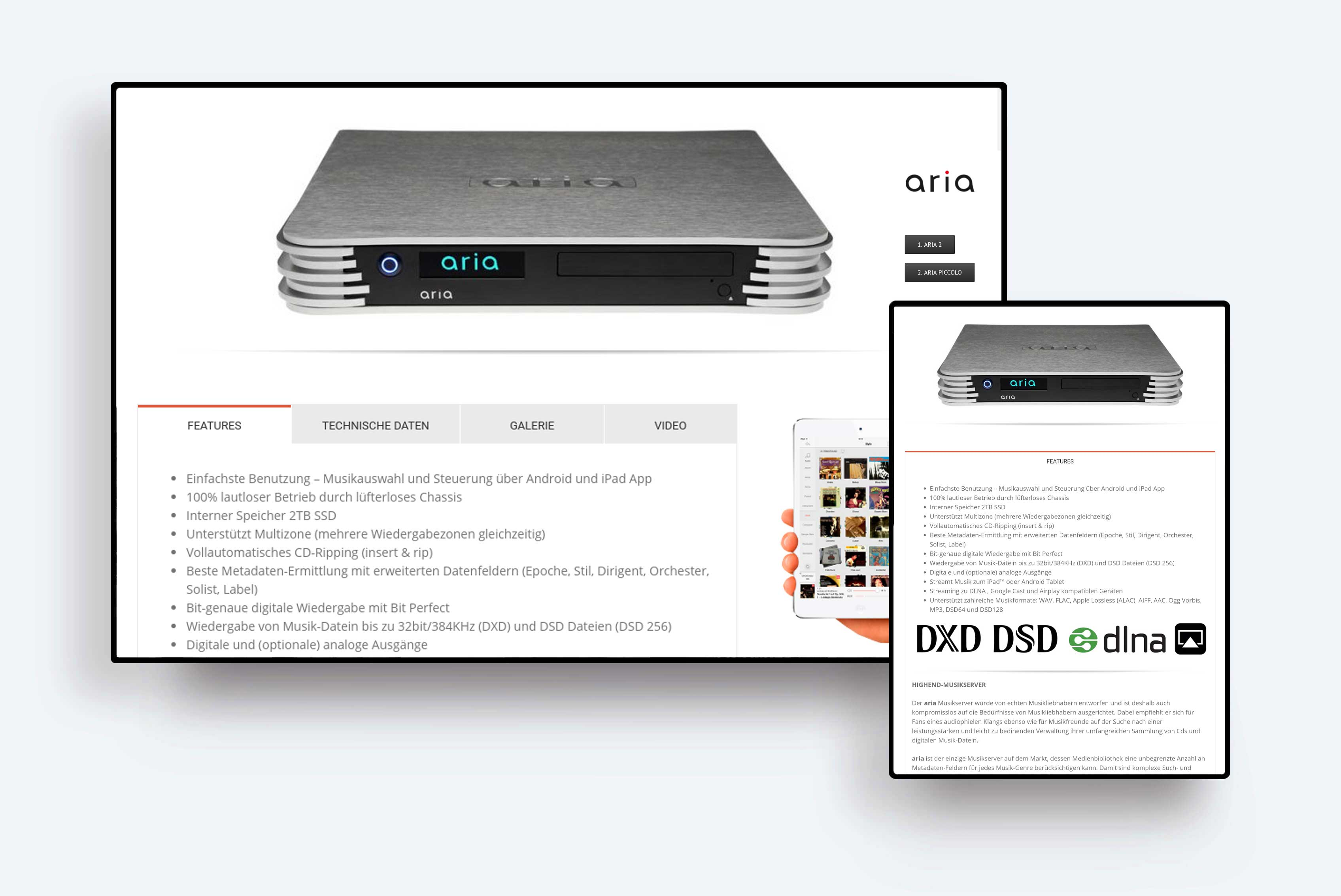 aria music servers for audiophiles